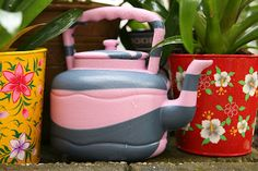 Funky Fair Trade watering can from Senegal, Africa