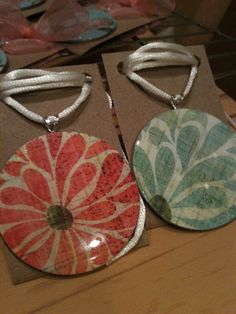 Coconut Love: Mod Podge Washer Necklaces with Enviro Tex