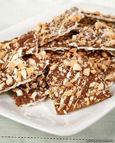 Nutty Chocolate Matzo Crunch