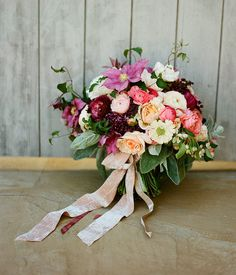 fall bouquet   velvet ribbon
