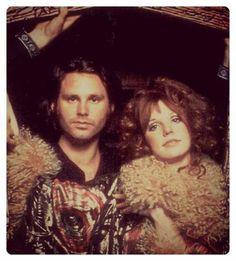 Jim Morrison and Pamela Courson (Rollingstone Mag)