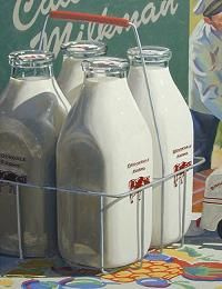 Glass Milk Bottles...delivered to your door by the milkman.