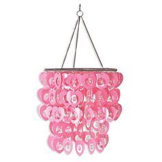 Cute pink heart chandelier DIY valentines day decor idea Cupid Chandelier - Room Décor Accessories | WallPops!