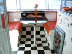 Vintage Trailer  <3 the floor  <3 the colors  <3 it all!