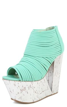 Privileged Man-Eater Strappy Ankle Boots in SEAFOAM