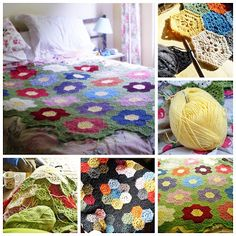 The Fairy Shoemakers diaries - SUMMER GARDEN hexagon tutorial by Fairysteps Knits