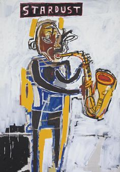 jean-michel basquiat artwork | Jean-Michel Basquiat , Untitled (Stardust) , Price Realized: USD $ ...