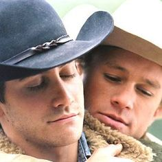 "Jake Gyllenhaal & Heath Ledger - Classic Pose From ""Brokeback Mountain"" (2005)"