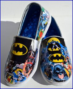 Made to Order Shoes Batman Shoes Custom Batman Shoes by PricklyPaw, $27.50