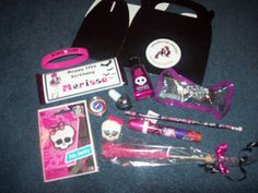 Monster High Party Favors #monsterhigh #partyfavors