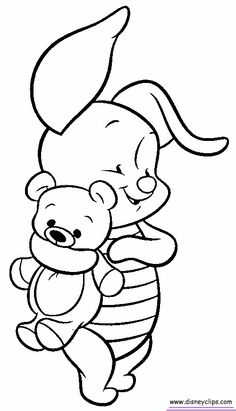 how to draw baby eeyor - Disney Baby Piglet Coloring Pages