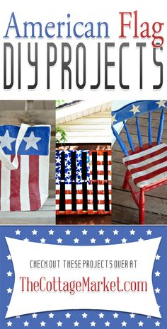 American Flag DIY Projects {4th of July} - The Cottage Market