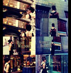 Blair Waldorf as Audrey Hepburn in Breakfast at Tiffany's