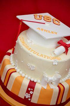 Feminine grad cake...beautiful!