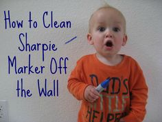 How to Clean Sharpie Markers clean perman, nail polish, remove marker from wall, sharpi marker, alcohol, markers, perman marker, cleaning permanent marker, remove sharpie from wall