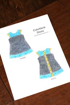 Climbing the Willow: colorblock dress - coloring for big kids :)
