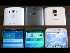 LG G3 vs Samsung Galaxy S5 vs HTC One M8