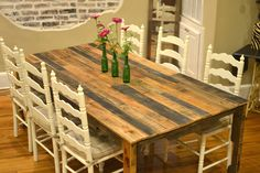 GORGEOUS Wood Pallet Farm Table!