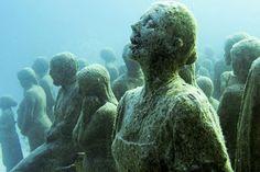 underwater art installation
