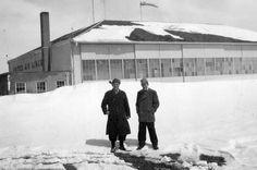 Regarding the two pictures taken at Lee Bird Field, they were taken within a day or two of the worst blizzard to hit that area in quite awhile.  The timeframe of this blizzard would have been November or early December 1949.  My father (Frank T. Henley) is on the left and the gentleman on the right is Wendell Hammond who also was a weather bureau employee.  My father moved the operation from 214 West 5th to the airport in Oct/Nov., 1949. father