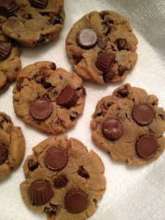 mini reese/peanut butter cookies