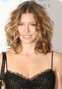 Medium a-line curly Choppy Layered Hairstyles | Medium length hair styles for thick hair | Medium Length Hair Styles