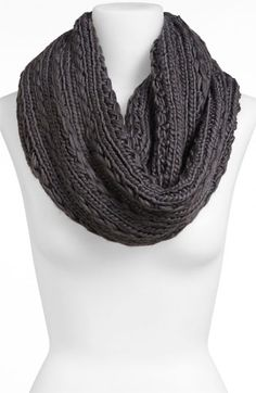 Lulu Cable Knit Infinity Scarf available at #Nordstrom .  Cute to wear with an oversize sweater, black tights, & boots!