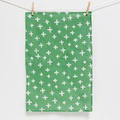 tea towel | green cross
