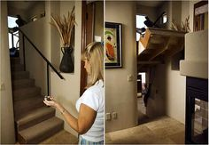 Consider a hidden room. | 31 Insanely Clever Remodeling Ideas For Your New Home