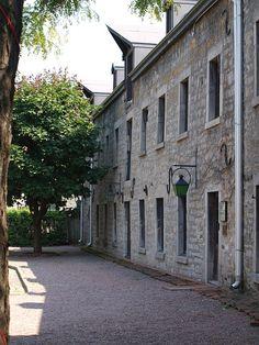 Montreal old courtyard - Gibbys Restaurant.