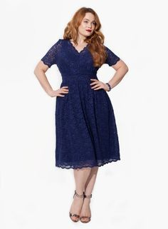 Nencia Cocktail Dress in Navy