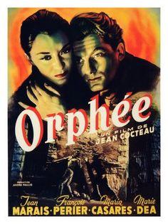 Orphée (1950), Jean Cocteau, Belgian Movie Poster.