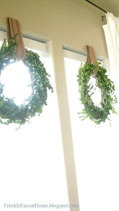 Freckle Face Girl: How to make a {lovely} Boxwood Wreath: The Busy Momma's Guide