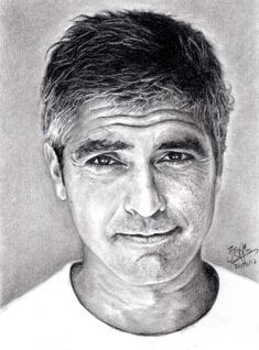 Pencil portrait of george clooney by chaseroflight deviantart com on @