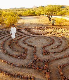 Labyrinth stone labyrinth, yard