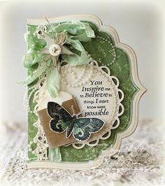 beautiful card w/Spellbinders dies