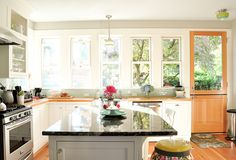 gorgeous kitchen drenched in light
