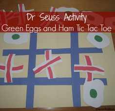 Green Eggs and Ham (Bacon) Tic Tac Toe