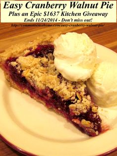 hqs- Easy Cranberry Walnut Pie and Epic Kitchen Giveaway- Cranberries ...