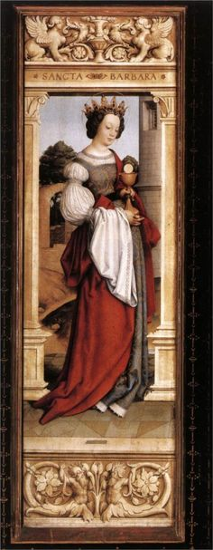 St. Barbara, 1516 - Hans Holbein the Younger -