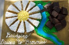 Cute idea for a Girl Scout bridging ceremony for Daisies to Brownies