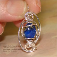Wire wrapped lapis