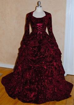 Steampunk Gothic Victorian Reproduction Gown by RomanticThreads, $1150.00