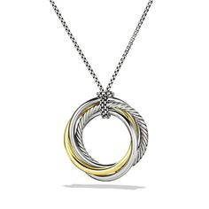 Crossover Pendant with Gold on Chain / by David Yurman