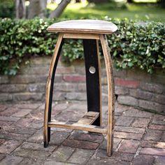 JC Woodsrtisan - bourbon barrel bar stool