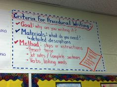 Procedural writing