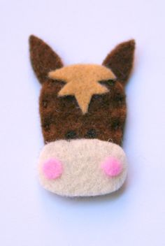 cute felt horse, brooch for Bodhi