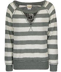 the buckle sweater inset sweater, buckl sweater, stripe