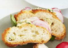 Shaved Radish Sandwiches with Herb Butter - who wants to have a tea party with me?