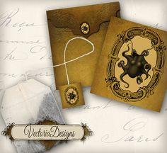 INSTANT DOWNLOAD Printable Octopus Tea Bag by VectoriaDesigns, $2.80